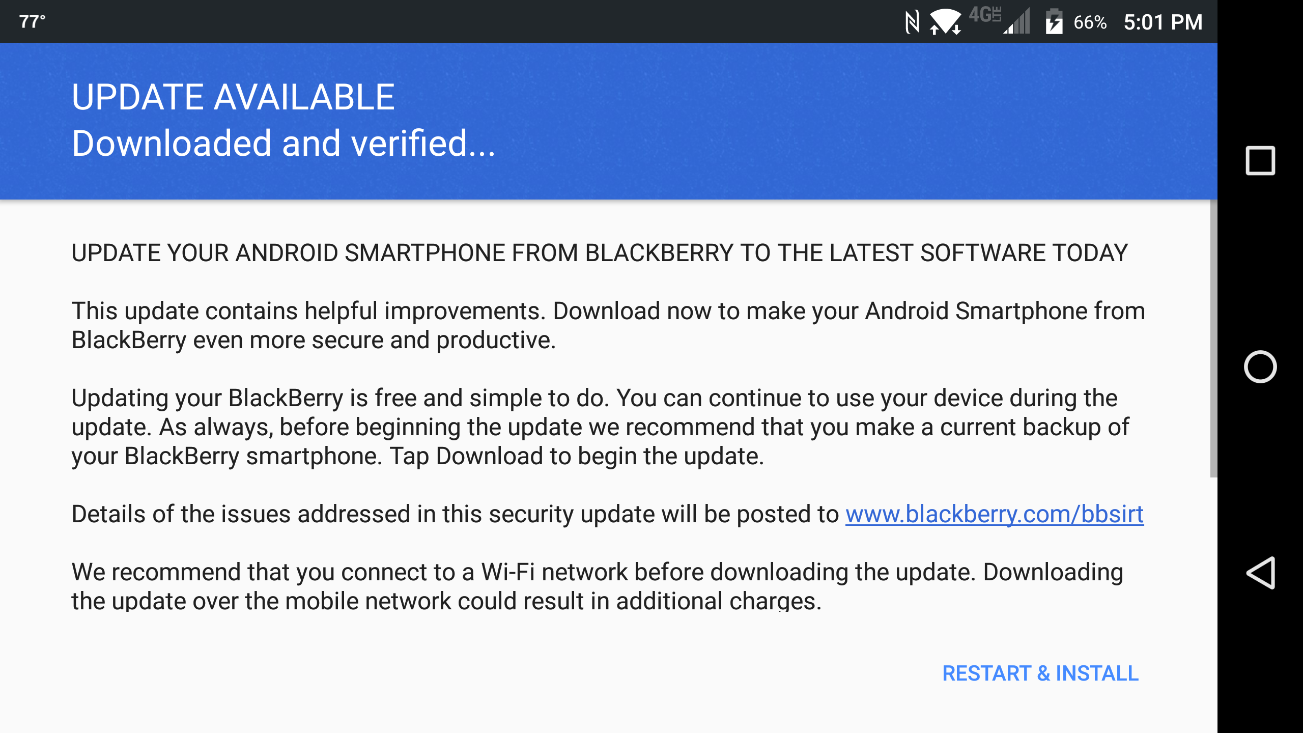 Fixing a wedged android update - DTEK60